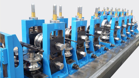 DB76 Expanded 127 HF Straight Seam Welded Tube Mill Line