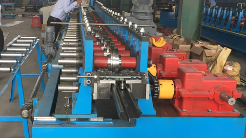 Automatic Door Frame Roll Forming  Machine With Punching